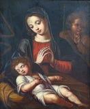 有孩子和圣约翰的维尔京浸礼会教友 免版税库存照片