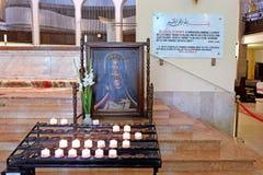 有孩子的玛丹娜清真寺的Qazim在佩奇匈牙利 免版税库存照片
