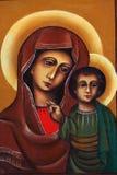 有孩子的耶稣玛丽 免版税库存照片