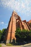 有它的历史什未林大教堂的什未林 德国 自行车 图库摄影