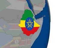 有它的旗子的埃塞俄比亚 向量例证