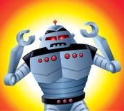 有它的胳膊的疯狂的机器人 免版税库存照片