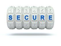 有安全词的号码锁 免版税图库摄影