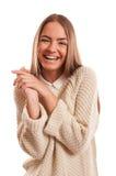 有完善的微笑的美丽的妇女 库存图片