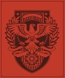 老鹰徽章设计 库存照片