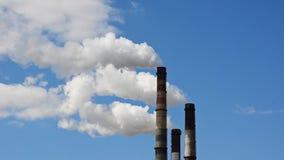 有害的物质放射到大气里 股票录像