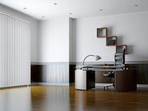 有家具和视窗的办公室 免版税库存照片