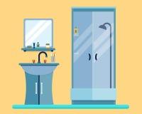 有家具的卫生间 免版税库存图片