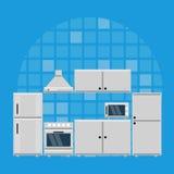 有家具的厨房 免版税库存图片