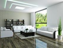 有家具的客厅 免版税库存照片