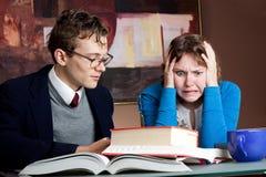 有家庭作业麻烦 免版税库存图片