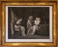 有家庭的拿破仑・波拿巴 免版税库存照片