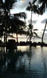 有家庭菜园的Naturel海在斯里兰卡 图库摄影