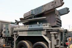 有导弹的军车 库存图片