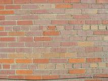 有导线的3砖墙 库存照片