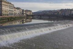 有小小瀑布的佛罗伦萨 免版税库存照片