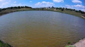 有小波浪的小湖 影视素材