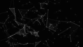 有小点的,线,三角黑白色结节 社会网络的背景知识,互联网,科学 皇族释放例证