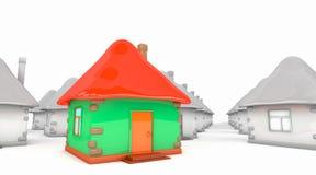 有小组灰色的色的房子 向量例证