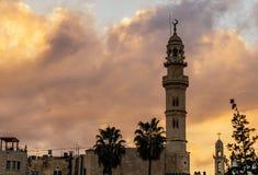 有尖塔的清真寺在伯利恒 库存图片