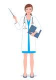 有尖的女性医生 库存照片