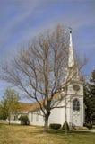 有尖顶的教会 免版税库存图片