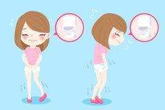 有尿紧急问题的妇女 向量例证