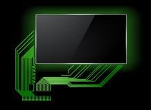 有屏幕的电路板 库存图片