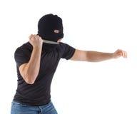 有屏蔽的强盗 免版税图库摄影