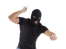 有屏蔽的强盗 库存照片