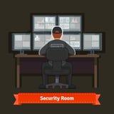 有工作的专家的安全室 库存图片