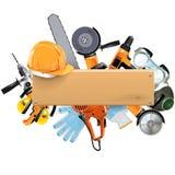 有工具的传染媒介木板 免版税库存图片