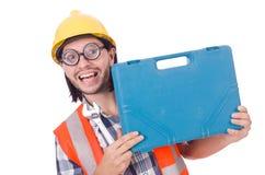 有工具箱的工头 免版税图库摄影