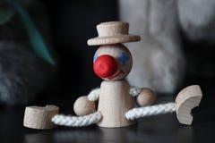 有帽子玩具的一个小丑 免版税库存照片