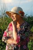 有帽子的祖母 库存图片