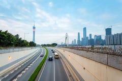 有广州地平线的隧道 免版税库存图片