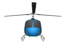 有底盘和刀片的直升机 导航在白色背景eps 10隔绝的例证 图库摄影