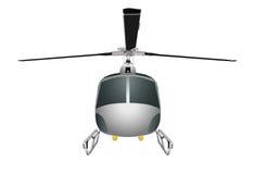 有底盘和刀片的直升机 导航在白色背景eps 10隔绝的例证 免版税库存照片