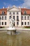 有庭院的波兰Kozlowka宫殿 免版税库存图片