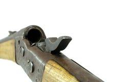 有开放的螺栓的老步枪 免版税库存图片