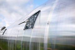 有开窗口的温室 库存图片