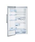 有开门的冰箱 库存图片