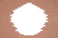 有开头的红砖墙壁文本的 免版税图库摄影