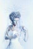 有异常的构成的雪女王/王后 图库摄影