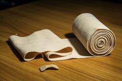 有弹性绷带医疗棉花 免版税图库摄影