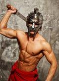 有强健的身体的争论者 图库摄影