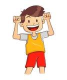 有强的健康身体的男孩 免版税库存图片