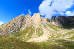 有强记Saule的山脉全景在阿尔卑斯,奥地利 免版税图库摄影