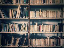 有很多自由去地方图书馆读到发现新知识 免版税库存照片