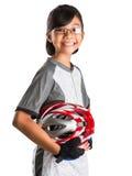 有循环的服装的VIII小女孩 免版税库存照片